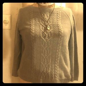 Talbots cotton cable knit sweater